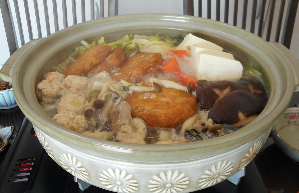 Yosenabe mit Shiitake